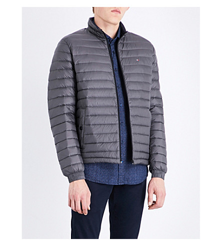 ... TOMMY HILFIGER Down-filled quilted shell jacket (Magnet. PreviousNext
