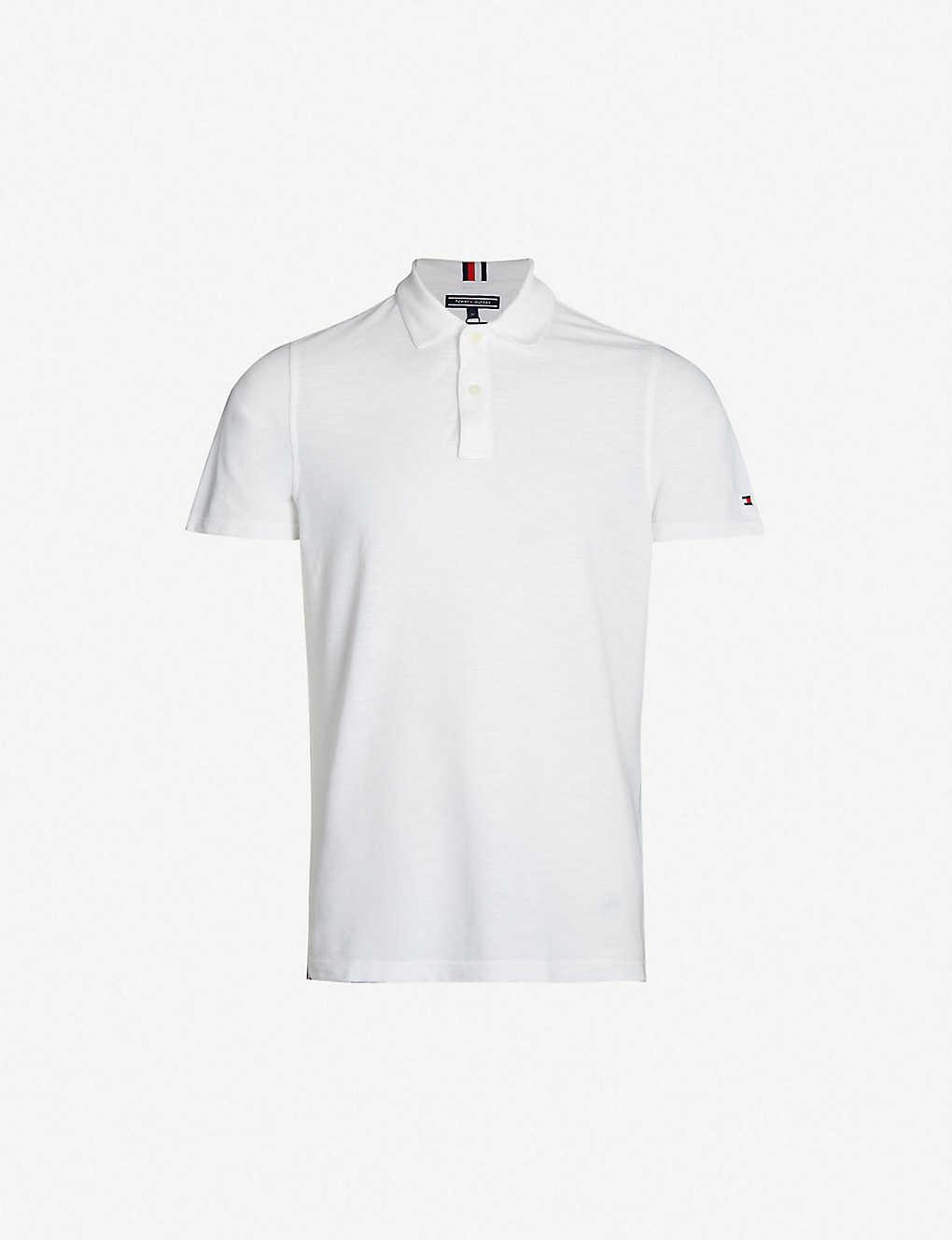 Tommy Hilfiger Logo Embroidered Cotton Piqu Polo Shirt