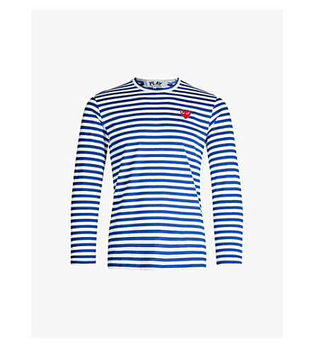 7a21cac4b2c5 ... COMME DES GARCONS PLAY Striped cotton-jersey top (Navy. PreviousNext