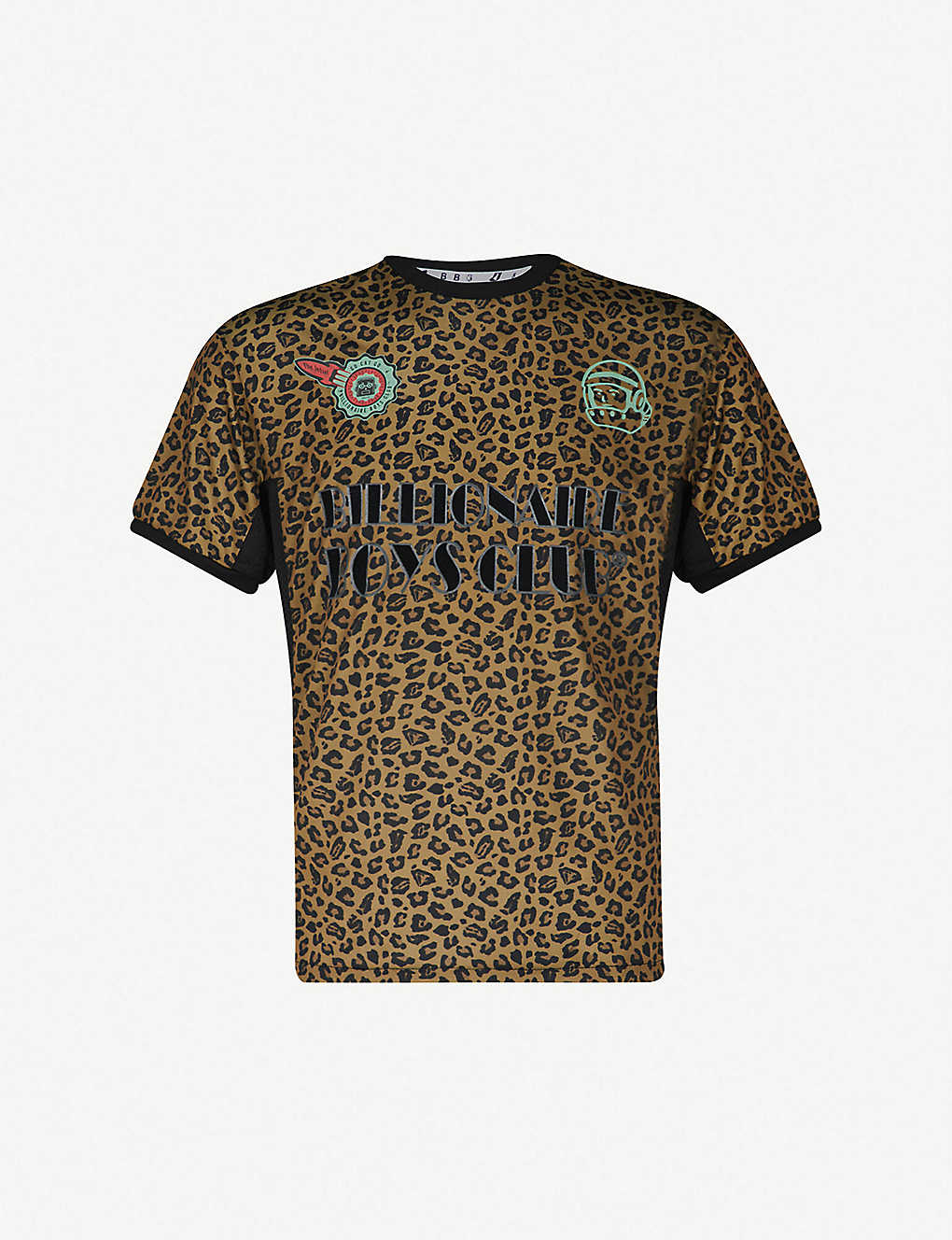 Billionaire Boys Club Leopard Print Sports Jersey T Shirt