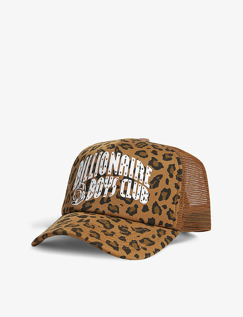 Leopard Print Trucker Cap In Green - Green Billionaire Boys Club