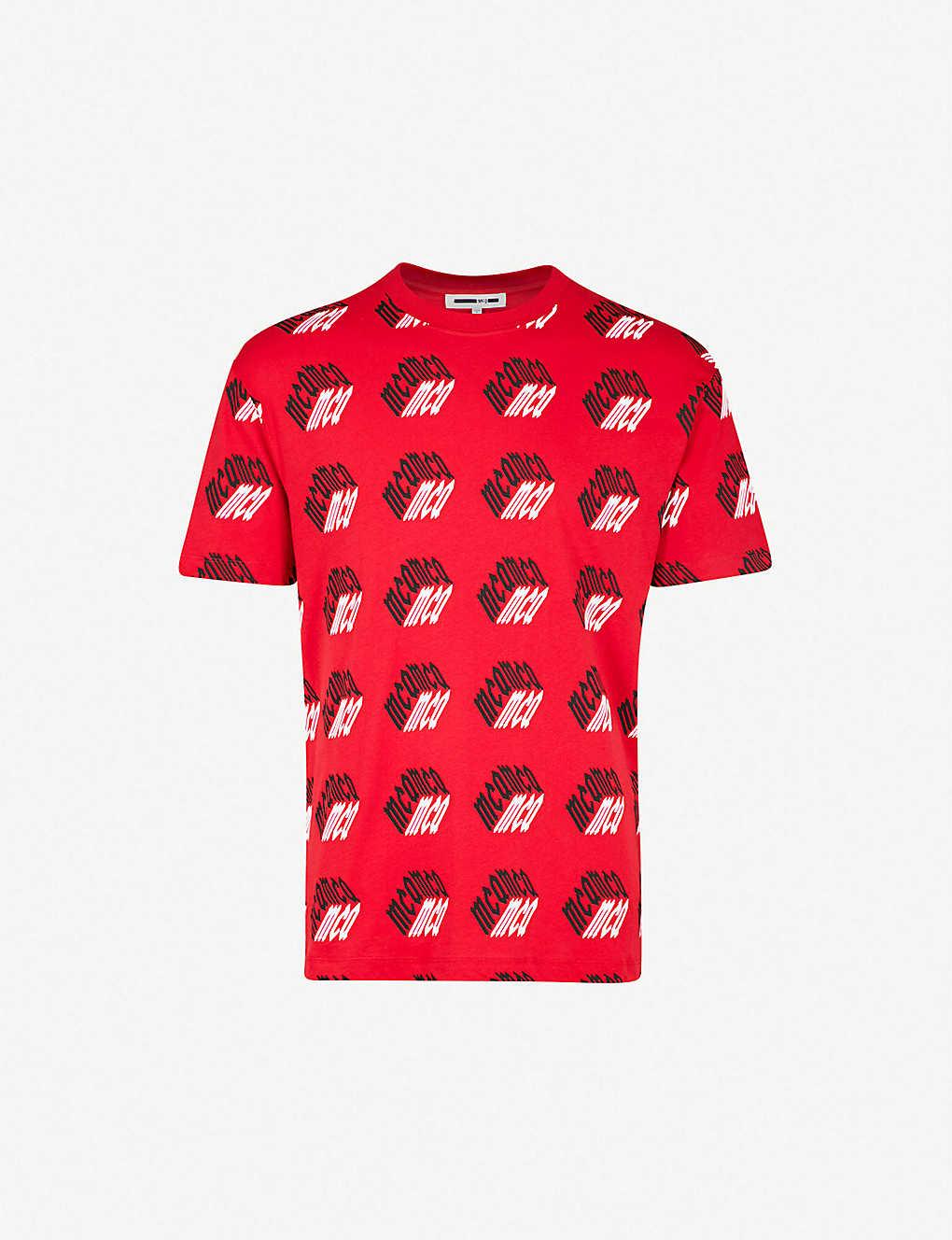 ad68ef14b74a MCQ ALEXANDER MCQUEEN - Logo-print cotton-jersey T-shirt ...