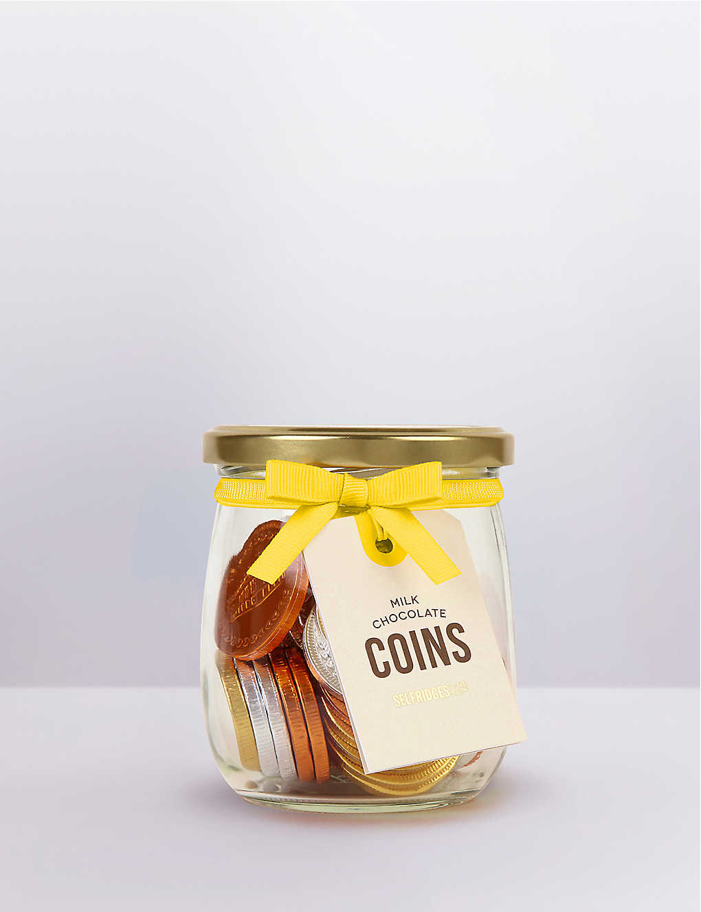 Novelty gifts chocolate food foodhall selfridges shop online selfridges selection jar of milk chocolate coins negle Image collections
