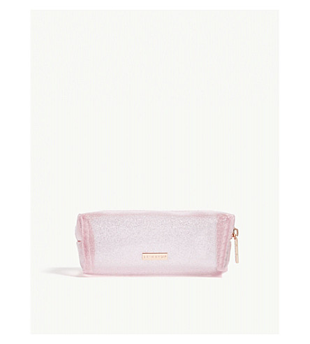 Blush Glitter Make Up Bag by Skinnydip