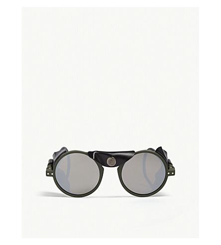 c1277b4ff0f ... IZIPIZI Sun Glacier Kaki round-frame sunglasses. PreviousNext
