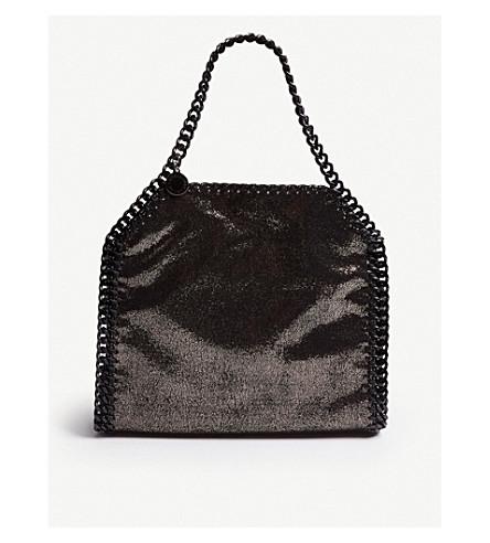 8eed47c7ec2e ... STELLA MCCARTNEY Mini Baby Bella metallic faux-suede cross-body bag  (Ruthenium . PreviousNext