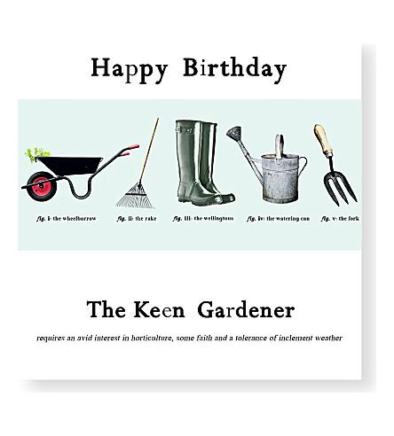 SUSAN OHANLON Keen Gardener Birthday Card