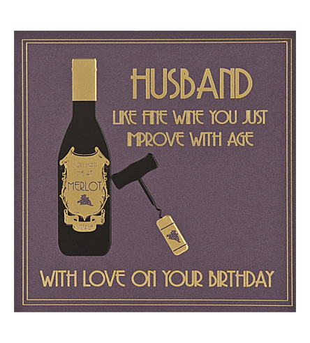 Five Dollar Shake Husband Fine Wine Birthday Card Selfridges