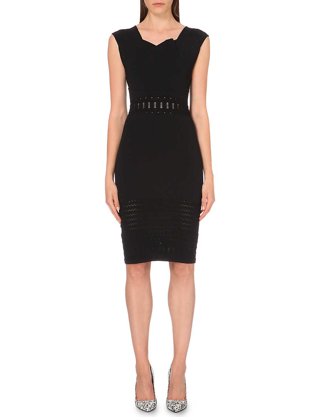 ROLAND MOURET Angler stretch-crepe dress