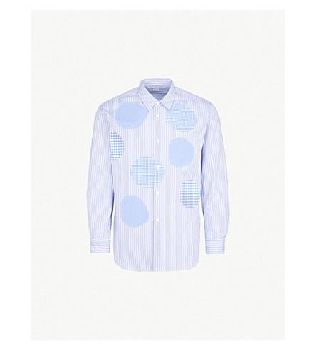 Patchwork Regular Fit Cotton Poplin Shirt by Comme Des Garcons Shirt