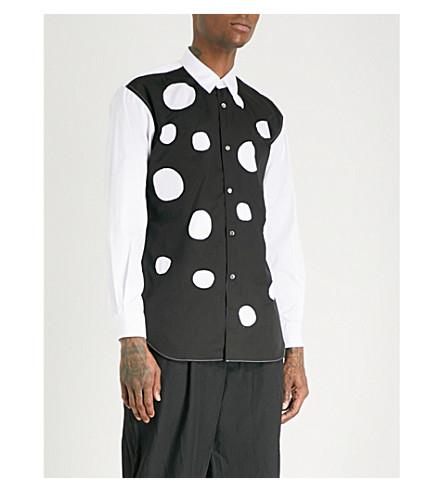 Two Tone Regular Fit Cotton Poplin Shirt by Comme Des Garcons Shirt