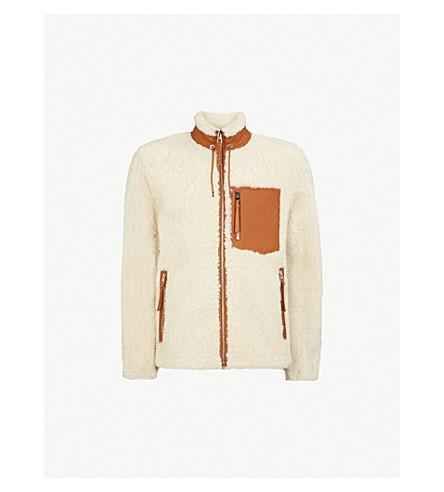 Contrasting Trims Shearling Jacket by Loewe