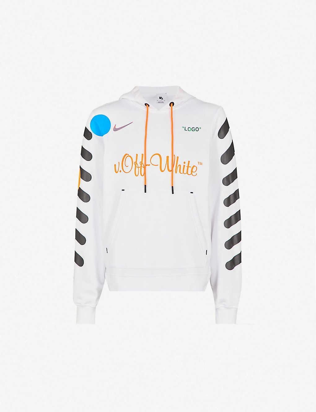 NIKE X OFF-WHITE - Logo-print cotton-jersey hoody  98c3c1155