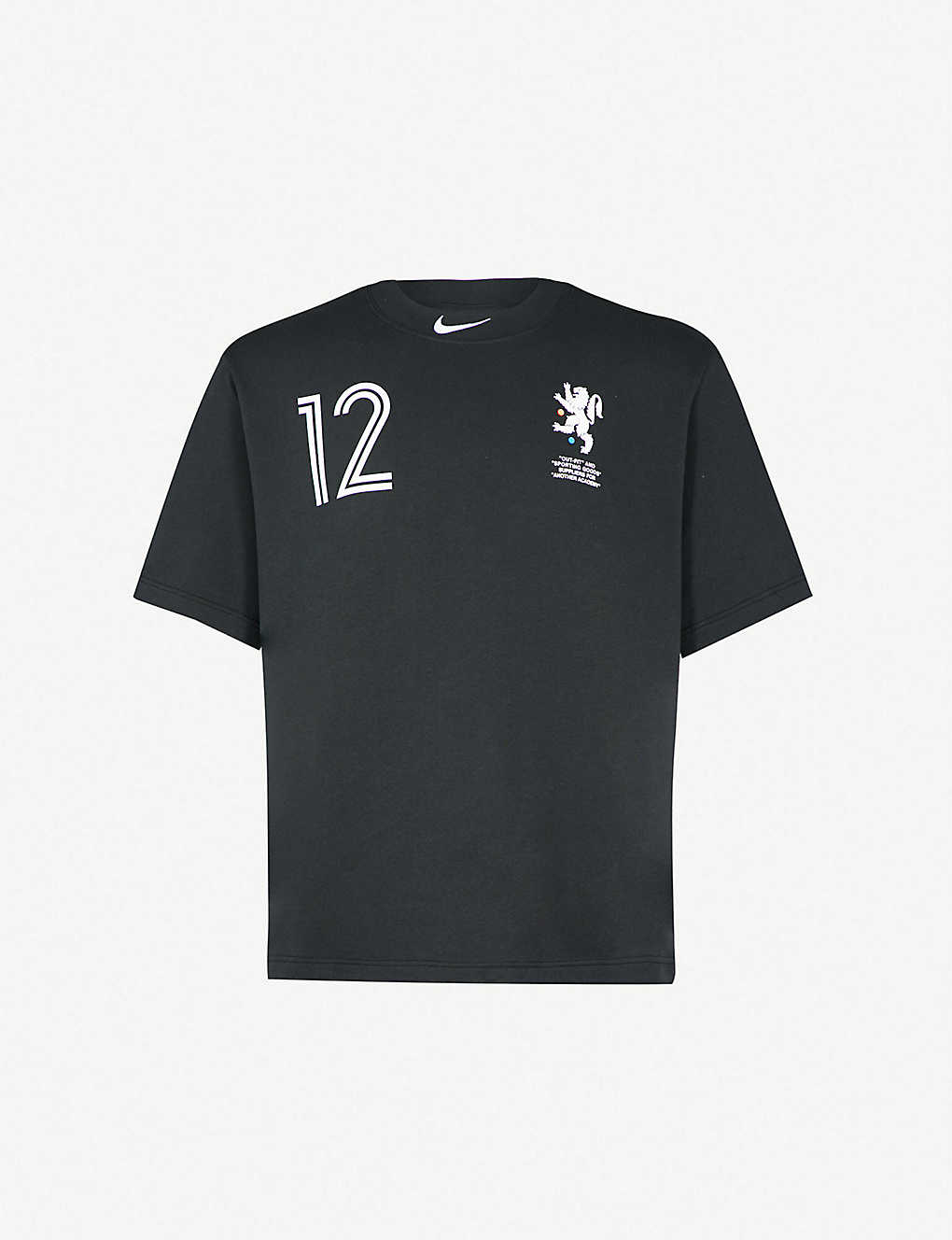 NIKE X OFF-WHITE - Logo-print cropped cotton-jersey T-shirt ... cbfb89158