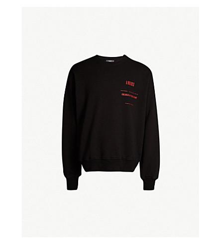 Graphic Logo Print Cotton Jersey Sweatshirt by Amiri