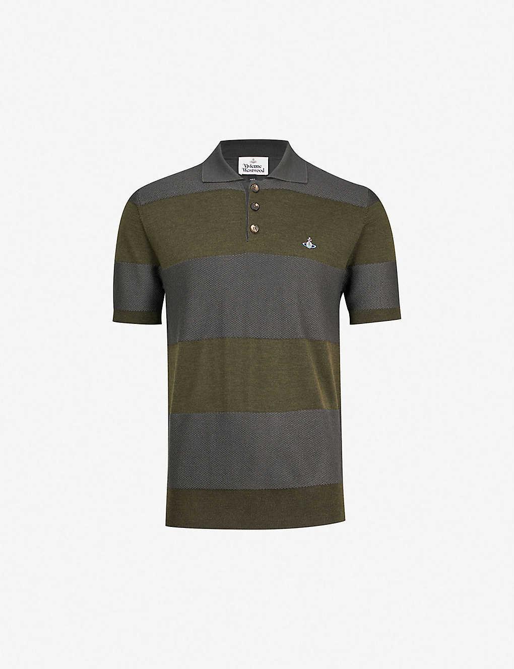 Vivienne Westwood Striped Wool Polo Shirt Selfridges