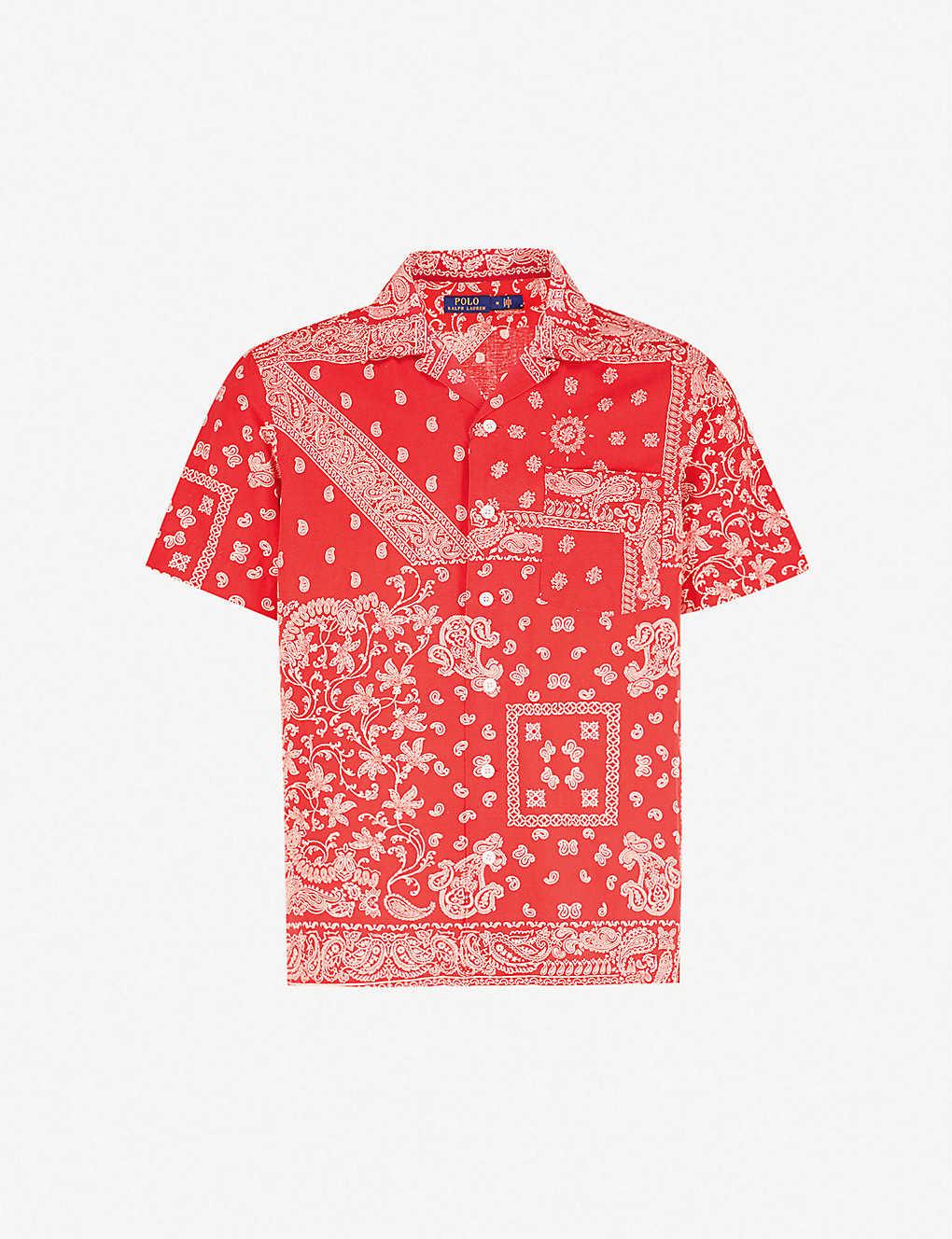 Polo Ralph Lauren Bandana Print Cotton Linen And Silk Blend Shirt