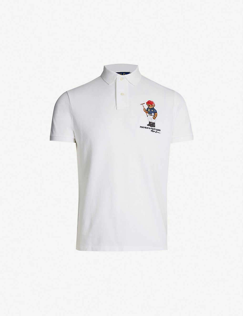 Polo Ralph Lauren Bear Embroidered Cotton Piqu Polo Shirt