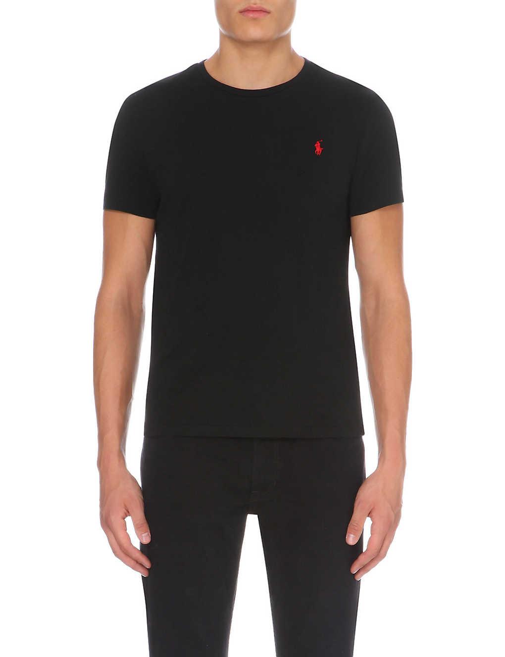 Jay z black t shirt white cross - Polo Ralph Lauren Logo Embroidered Cotton Jersey T Shirt