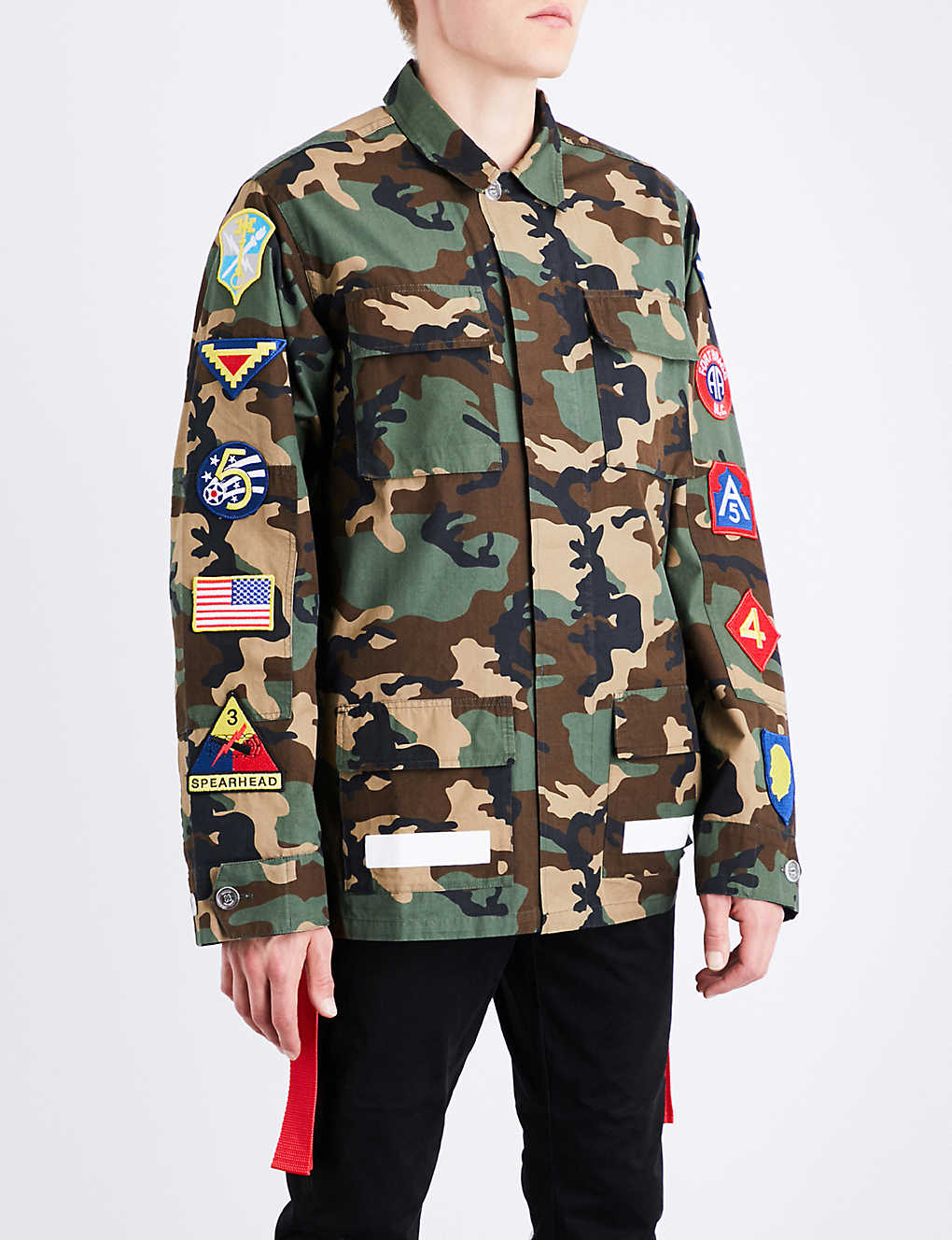 offwhite co virgil abloh camouflage cotton field jacket