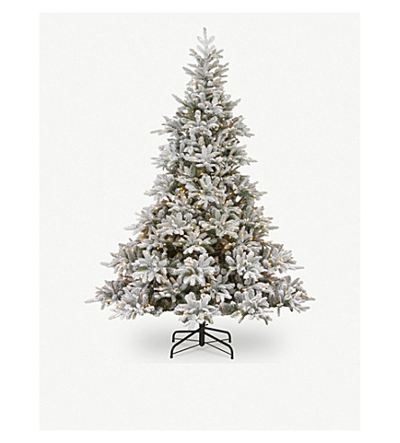 TREE - Frosted Andorra lit Christmas tree 7.5ft | Selfridges.com