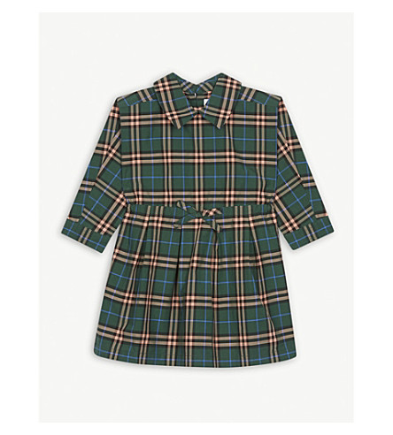 320d2964b BURBERRY - Check cotton drawcord dress (6-36 months)