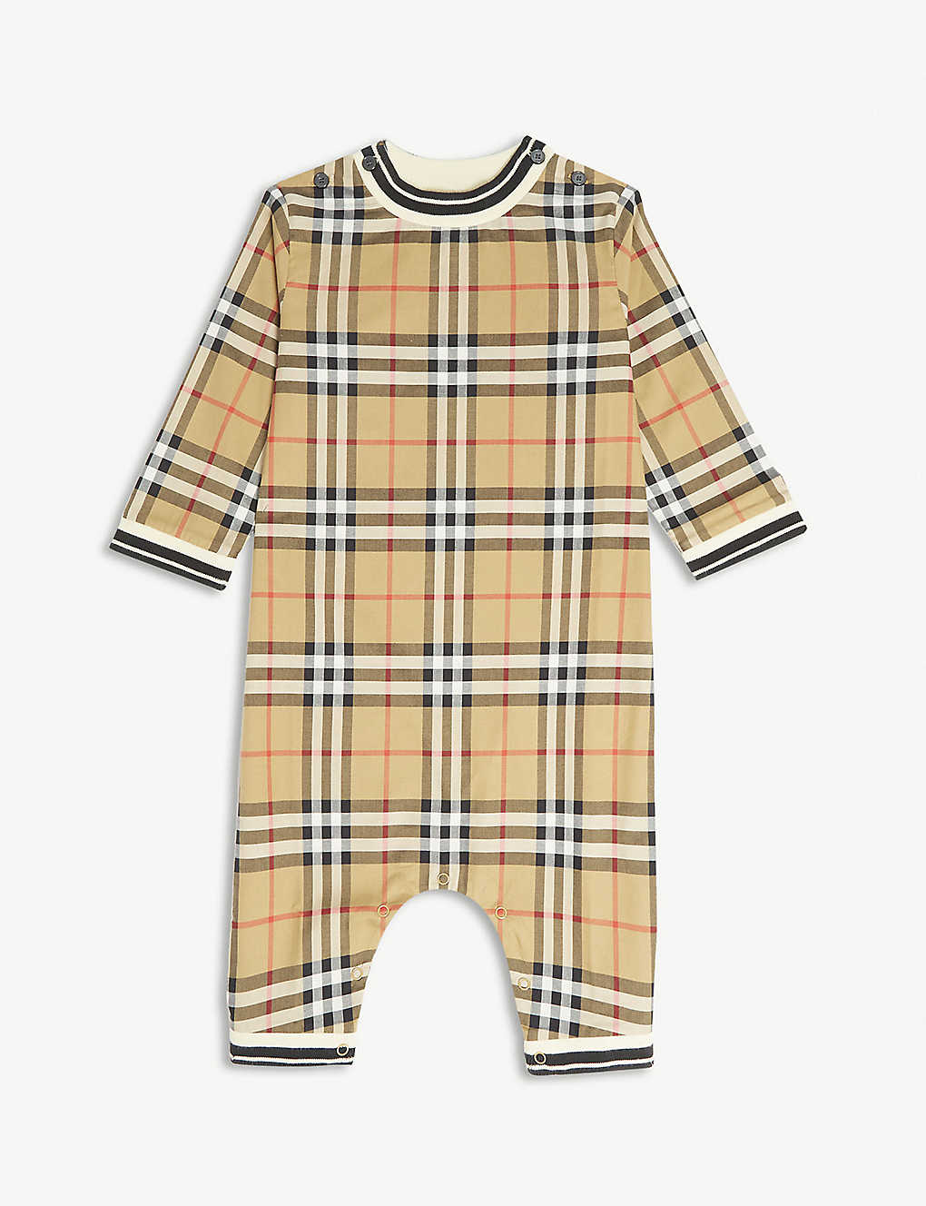 BURBERRY - Vintage check cotton babygrow 1-18 months  f1006ef19a7f