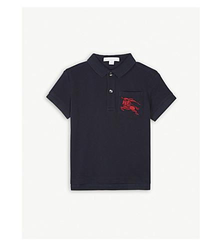 Burberry Logo Pocket Cotton Polo Shirt 3 14 Years Selfridges Com