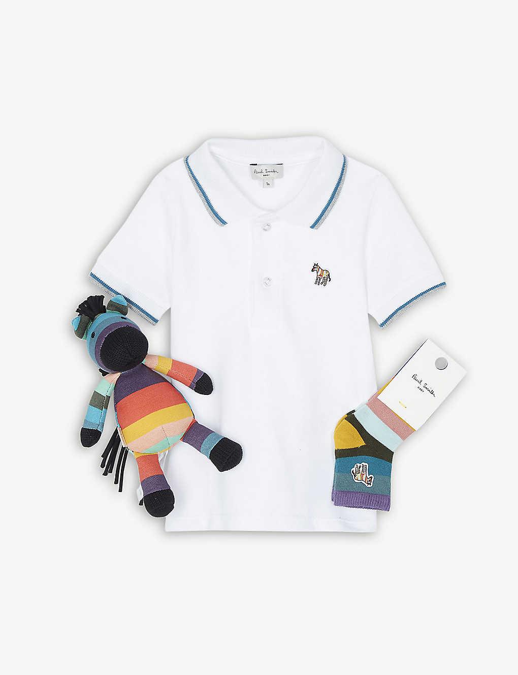 458e60937 PAUL SMITH JUNIOR - Zebra polo shirt three-piece gift set 3-12 ...