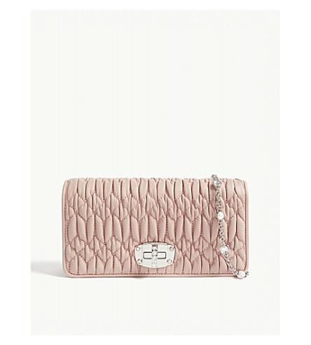 9ecc8b9da70d ... MIU MIU Mini Bandoliera leather purse (Pink. PreviousNext