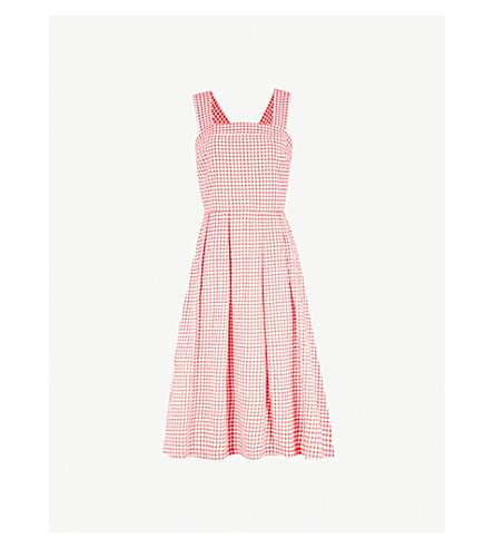 Pleated Gingham Cotton Blend Dress by Claudie Pierlot