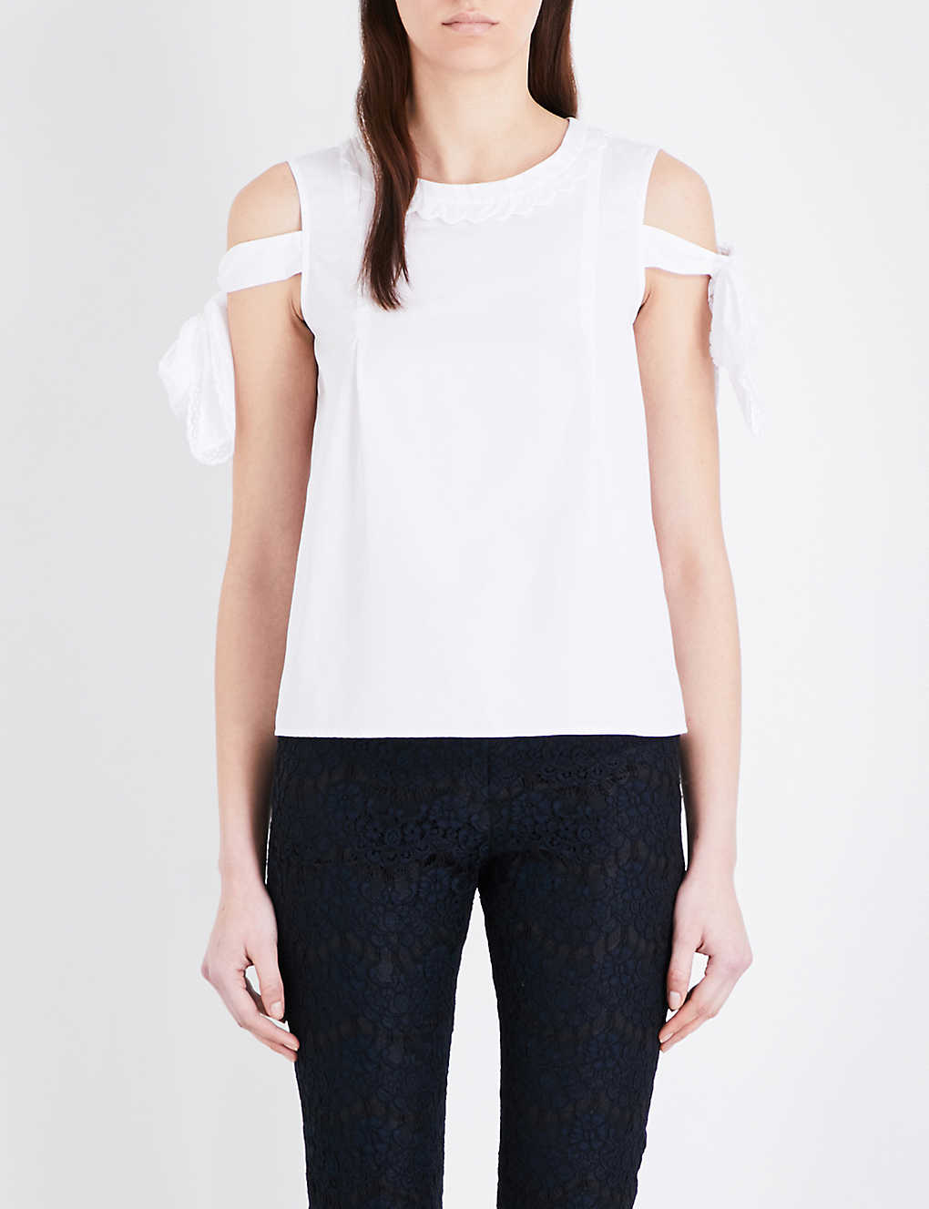Poplin Top Pierlot Bella Claudie Cotton ZpPwqtStx