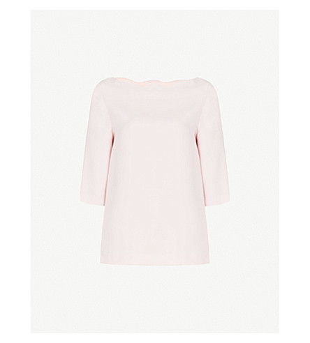 Scalloped Crepe T Shirt by Claudie Pierlot