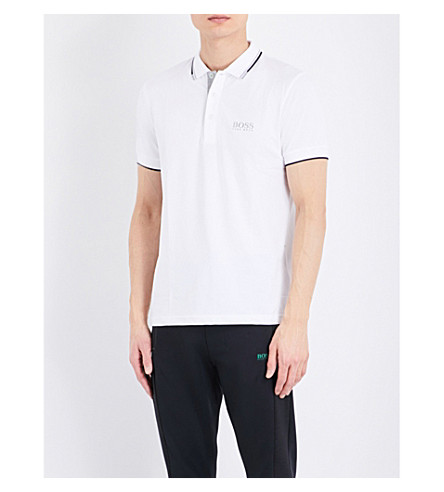 Contrast Trim Jersey Polo Shirt by Boss Green