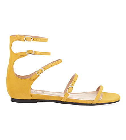 ... WHISTLES Cienega strappy suede sandals (Yellow. PreviousNext