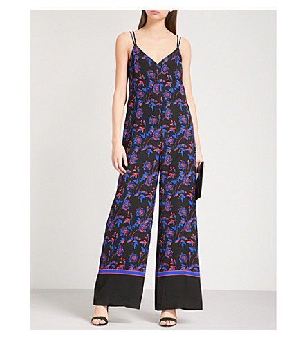 Hana Floral Print Crepe Wide Leg Jumpsuit by Whistles