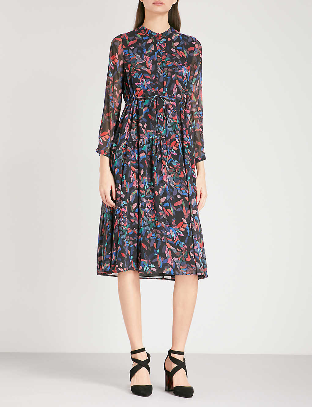 Whistles Mari Print Chiffon Shirt Dress Selfridges