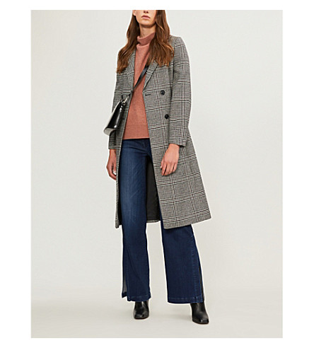 Penelope Belted Check Coat by Whistles