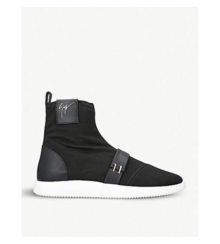 Giuseppe Zanotti Black canvas high-top sneaker WARREN Buy Cheap Huge Surprise New Styles Cheap Price Clearance Footlocker Extremely Sale Online BBA2AeJM2