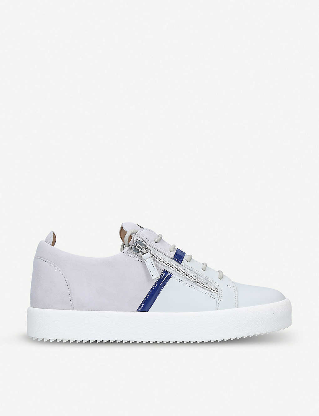 cfed9554c7a6 GIUSEPPE ZANOTTI - Two-tone leather and suede trainers