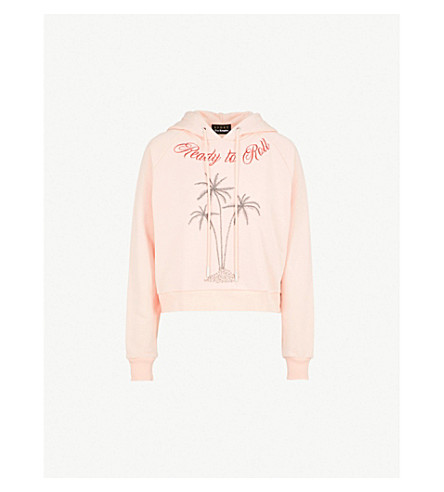 Palm Tree Cotton Jersey Hoody by The Kooples