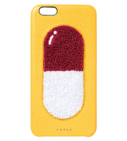 pill-leather-iphone-6-case by chaos
