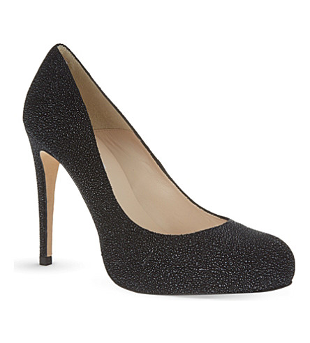 L.K. Bennett Suede Round-Toe Pumps Affordable Online env54
