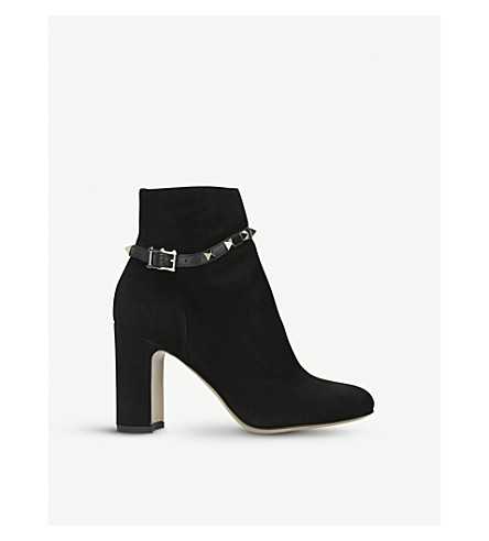 Rockstud Suede Ankle Boots 90 by Valentino