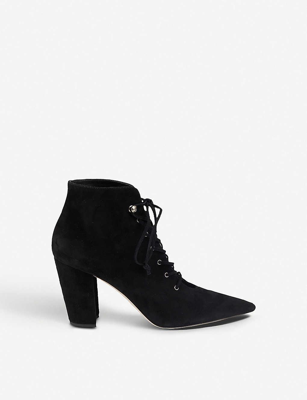 59a0f23f1a1a MIU MIU - Suede lace-up ankle boots