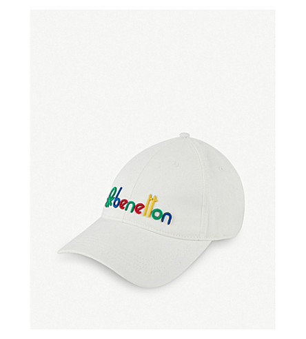 Unisex Logo Embroidered Cotton Cap by Benetton