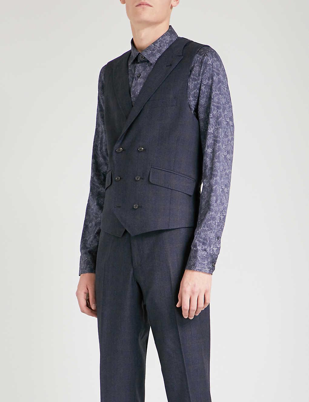 79b962eba TED BAKER - Sterling Chetrew checked regular-fit wool waistcoat ...