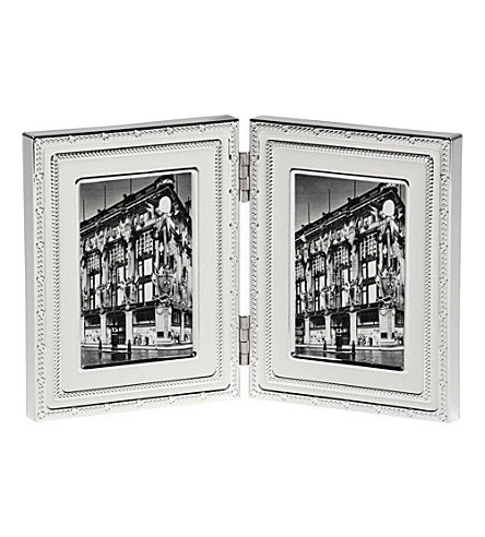 VERA WANG @ WEDGWOOD - Silver-plated folding frame 2x3inches ...