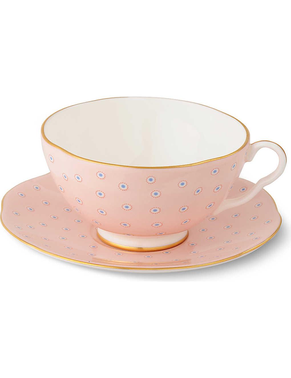 WEDGWOOD - Polka Dot Tea Story teacup and saucer | Selfridges.com