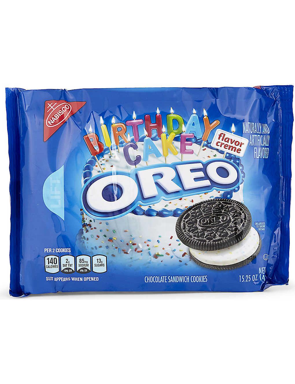 Oreos Birthday Cake Cookies 432g Selfridges
